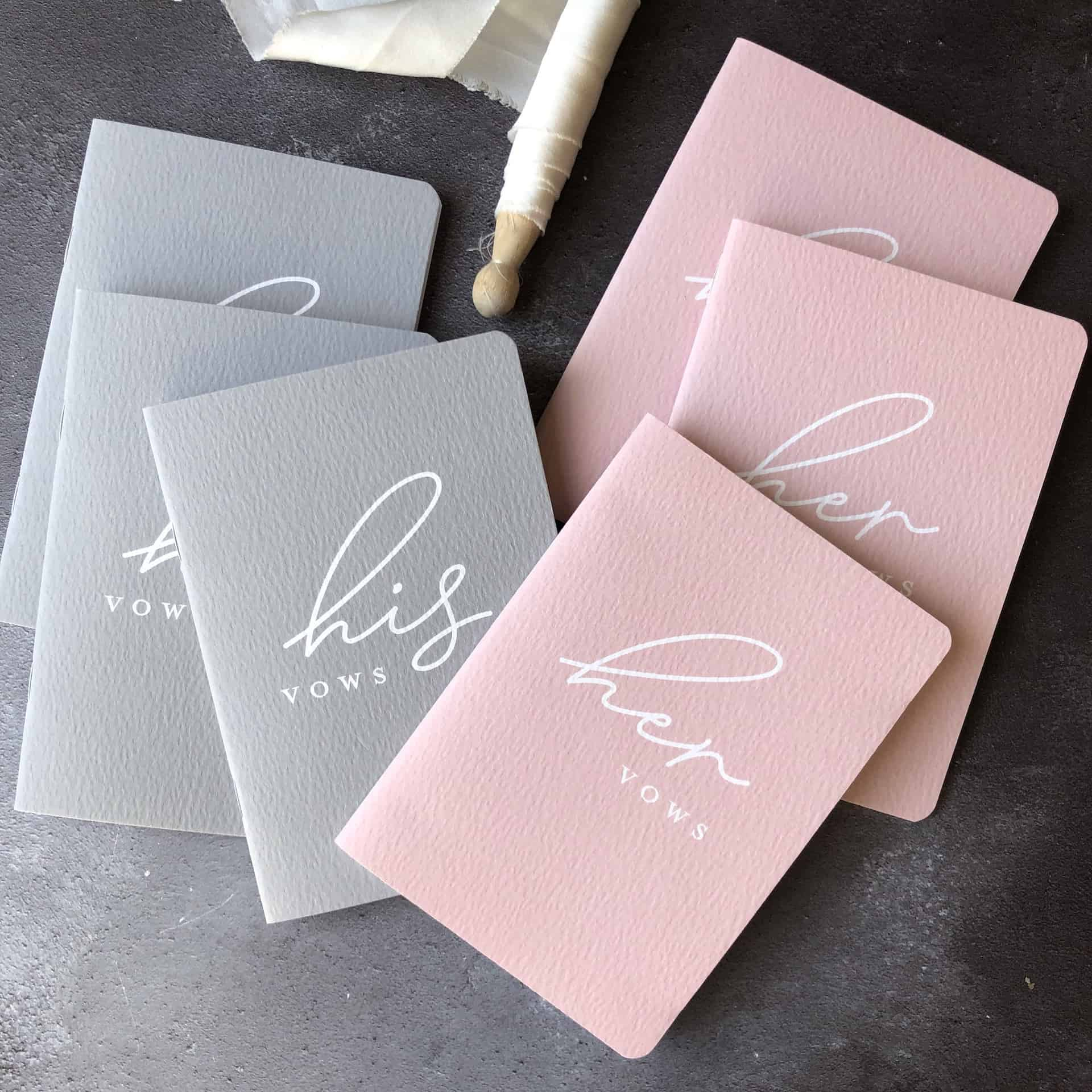 Wedding Vow Books with 2 Greeting Cards Gold Foil, 4 Pieces
